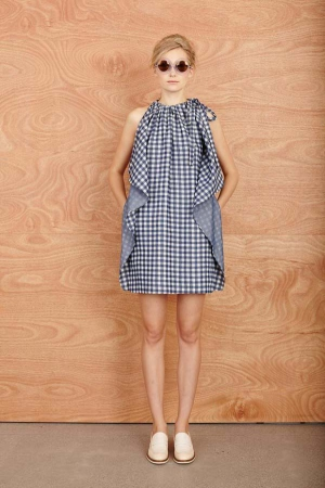 karen-walker-resort-2014-checked-dress-neck