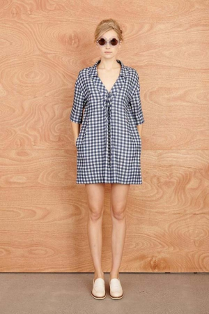 karen-walker-resort-2014-checked-dress-shirt