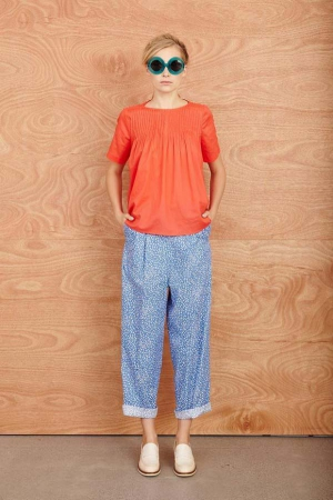 karen-walker-resort-2014-pijama-pants-orange-t-shirt