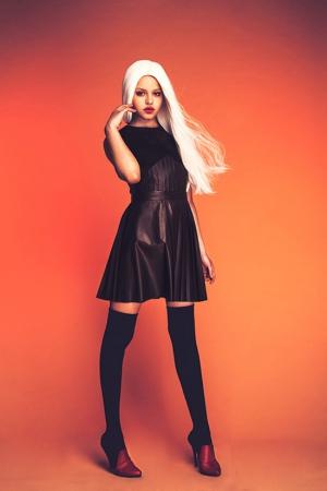 black-leather-ksenia-kireeva-autumn-winter-2013-2014-dress
