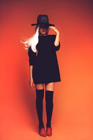 black-mini-ksenia-kireeva-autumn-winter-2013-2014-dress