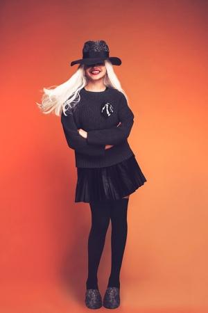 ksenia-kireeva-autumn-winter-2013-2014-black-leather-skirt-knitted-sweater