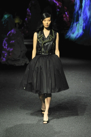 philipp-plein-ss-15-total-black-leather-dress
