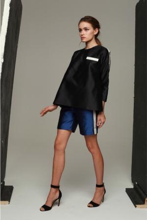 julia-kalmanovich-spring-summer-2014-black-atlas-top-blue-dark-shorts