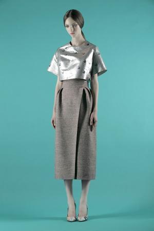 vika-gazinskaya-spring-summer-2014-brown-midi-skirt