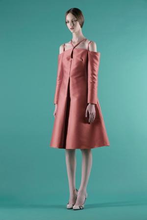 vika-gazinskaya-spring-summer-2014-coral-dress