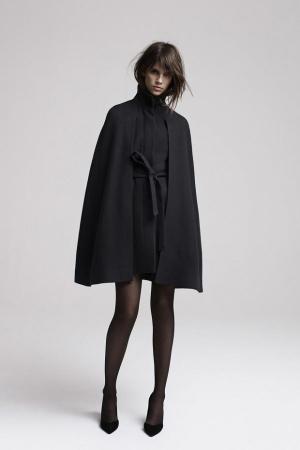 Maje-Fall-Winter-2013-2014-black-coat-with-belt