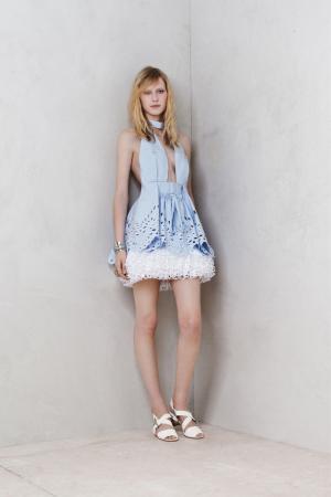 Alexandr-McQueen-resort-2014-mini-blue-dress