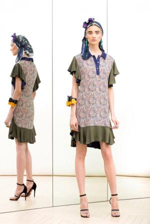 Alexis-Mabille-Resort-2014-khacki-dress