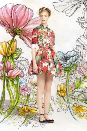 Red-Valentino-spring-summer-2014-floral-pink-dress