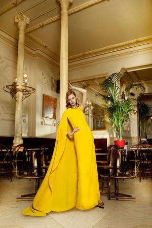 Dolores-Promesas-Heaven-Fall-Winter-2013-2014-yellow-maxi-dress